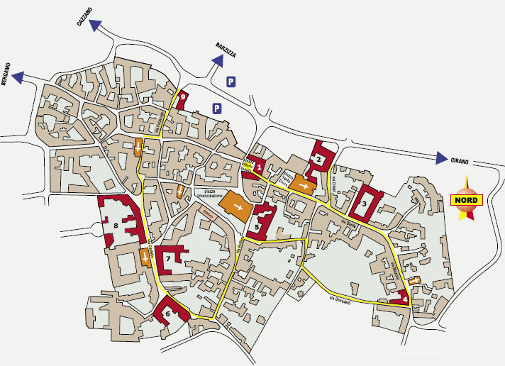 Mappa del centro storico