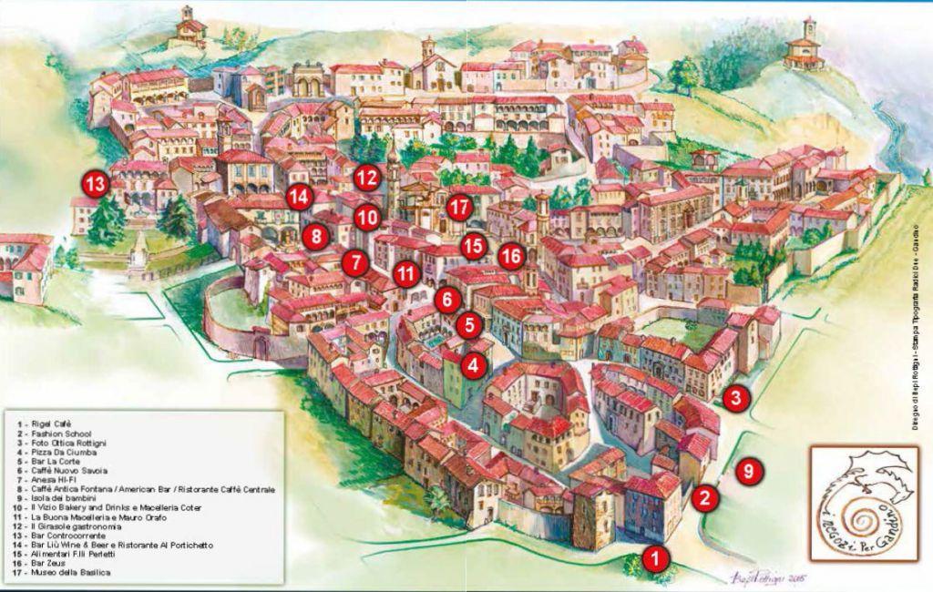 La mappa del centro storico con tutti gli eventi della Notte bianca