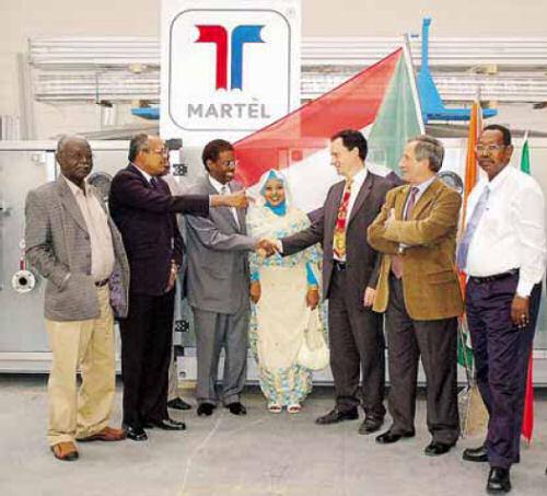 Il ministro sudanese con Massimo e Franco Bertocchi (foto Fronzi)