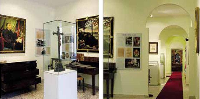 Due sale del nuovo Museo antologico dedicato alle suore Orsoline di Gandino. Ospitato nelle sale sopra la portineria del convento, è curato da Silvio Tomasini e ospita opere d'arte sacra, documenti e testimonianze dell'opera delle religiose in tutto il mondo.