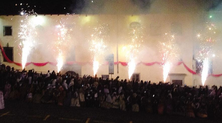 Anche lo spettacolo pirotecnico, in chiusura della manifestazione, è stato un momento molto apprezzato