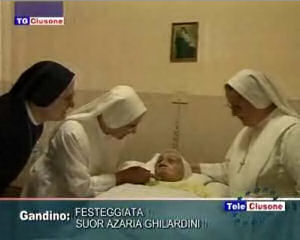 Festeggiata Suor Azaria Ghilardini per i suoi 100 anni
