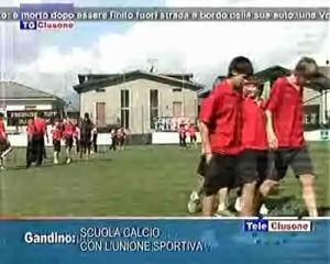 Scuola calcio con l'Unione sportiva Gandinese
