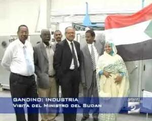 Visita del ministro all'industria del Sudan