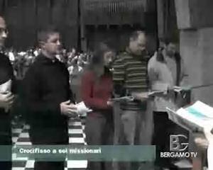 Consegnato il crocifisso a 6 missionari