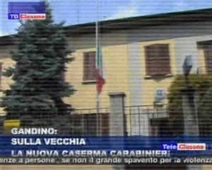 Sulla vecchia la nuova caserma dei carabinieri