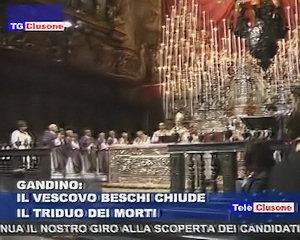 Il Vescovo Beschi alla chiusura del Triduo dei morti