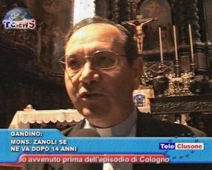 Mons. Zanoli lascia Gandino dopo 14 anni