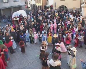 La sfilata di carnevale a gandino
