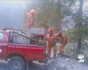 Incendi nei boschi intorno a Gandino