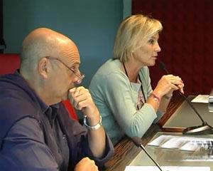 Olga Zambaiti Radici e Paolo Brosio a Gandino