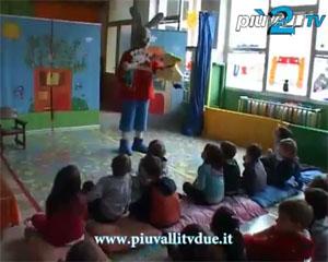 Giulio Coniglio alla scuola materna di Gandino