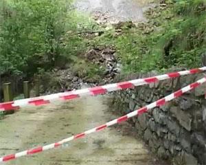 Frana a Barzizza per le abbondanti piogge