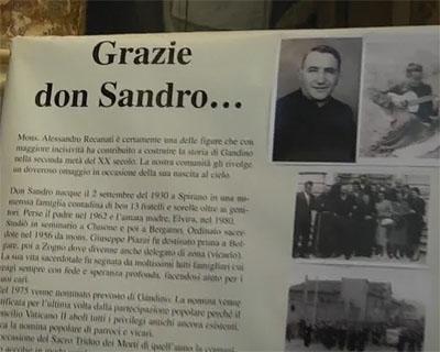 Triduo, ricordato Monsignor Recanati
