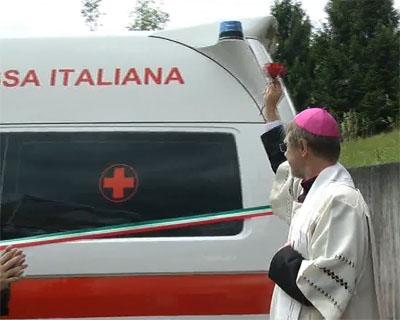 Croce Rossa Valgandino inaugurata la nuova ambulanza