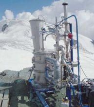 L'inceneritore installato sull'Everest