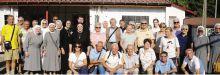 Il gruppo delle suore Orsoline di Gandino con i volontari bergamaschi arrivati in Polonia per i festeggiament