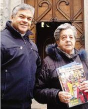 Il parroco don Innocente Chiodi  con Andreina Torri Lazzaroni